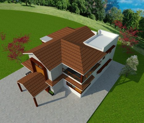 Modern house with sloped roof 3 1